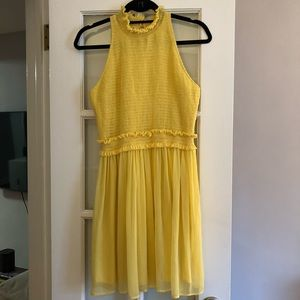 Zara Yellow Smocked Dress
